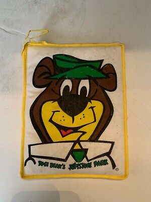 Vintage Yogi Bear Jellystone Park Advertising Souvenir Kitchen Hotpad