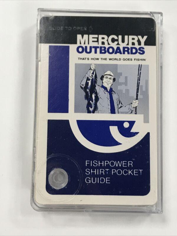 Vintage Fisherman's Shirt Pocket Guide Cards Mercury Outboards Branding: