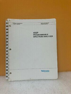 Tektronix 070-3401-00 492p Programmable Spectrum Analyzer Programmers Manual