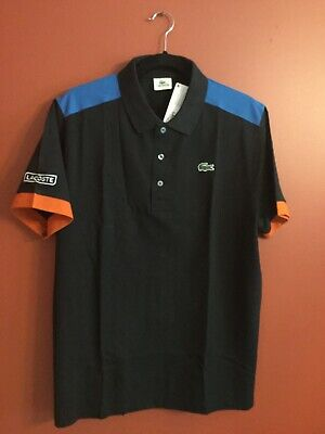 NWT Lacoste Men's Solid Cotton Casual Golf Polo Shirt