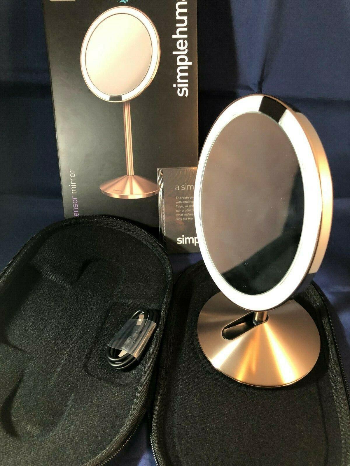 simplehuman 5 inch Sensor Mirror, Lighted Makeup Mirror, 10x