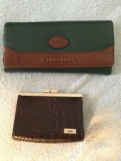 Nino Bossi Large Wallet and Jag Brown Coin Purse