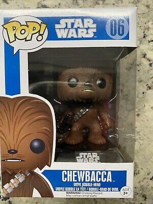 Funko POP! Star Wars #6 Chewbacca Blue Box RARE Brand New In Box