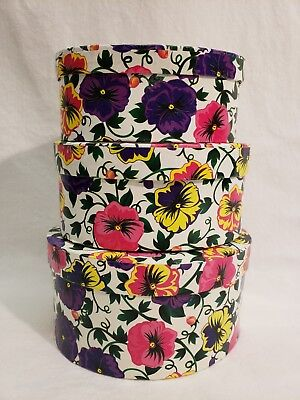 - *Set of 3* Pansies Oval Nesting Gift Boxes