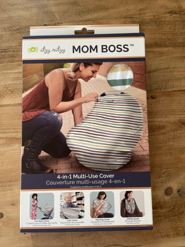 Itzy Ritzy Mom Boss 4-in-1 Multi-Use Cover Rainbow Stripe