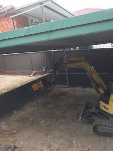 Excavator hire landscaping rock breaker concreting concert removal Hornsby Hornsby Area Preview