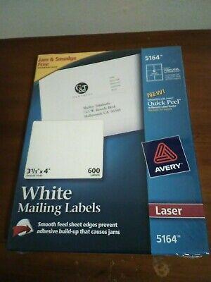 Avery Dennison 5164 Laser Labels - White