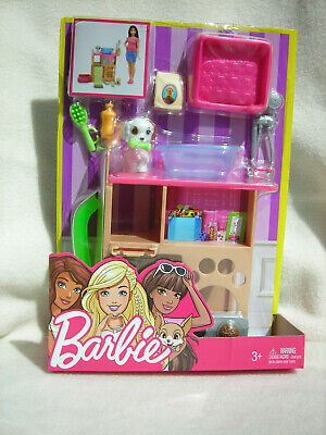 """Mattel Barbie """"Puppy Playtime!"""" with Grooming Supplies and Accessories NEW"""