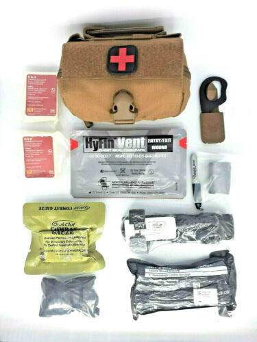 **NEW** Tan IFAK Initial GSW Trauma Kit