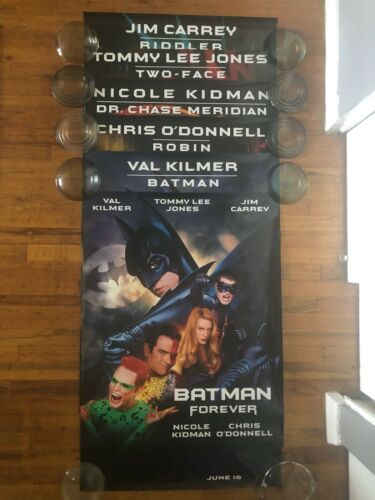 1995 Batman Forever 30x40 Movie Poster 1 Side Rolled set of all 6