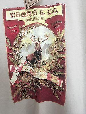 John Deere Shirt Nwt Deere   Co Moline Il 50 Years Of Progress Medium M Tee New