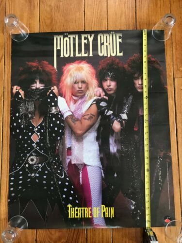 MOTLEY CRUE - Theatre Of Pain - 1985 original promo poster  33 X 27 NM condition