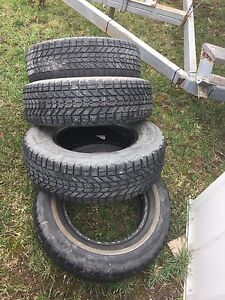Assorted snow tires