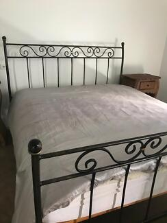 Forged iron king bed Australian