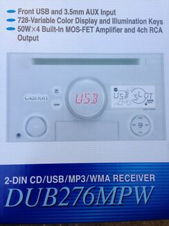 MP3 USB AUX INPUT CD PLAYER WMA CLARION RADIO WHITE fit Nissan Toyota Mount Waverley Monash Area Preview