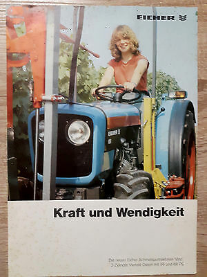Original Eicher Prospekt Traktor 656 666 V VA