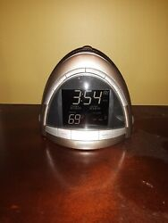 Homedics SoundSpa Premier Alarm Clock Radio Nature Sound Temp Projection SS-5010