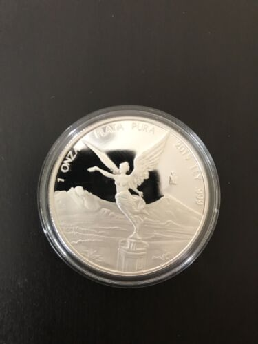 2015 Mexican Libertad 1 oz .999 Silver Round Proof Coin - ONLY 6,400 MINTED!