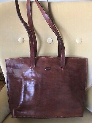 Tornabuoni Firenze Brown Handcrafted Italian Leather Bag Brown Italian Handcrafted Leather