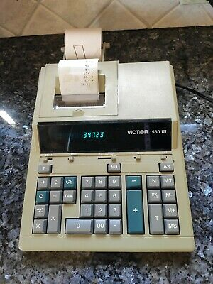 Vtg Victor 1530-3 Large Desk Calculator Printer Machine Retro Rare Office