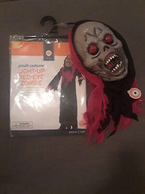 Boys Halloween Costume Light-Up Red-Eye Zombie NEW IN PACKAGE BEST PRICE ON - Halloween Costumes Ebay
