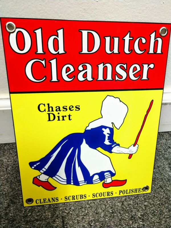Old Dutch Cleanser laundry soap detergent sign