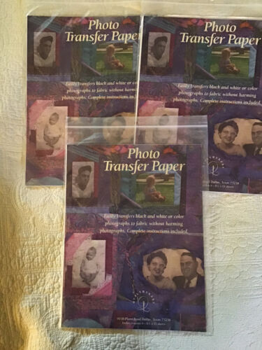 3 pack of 6 pages photo transfer