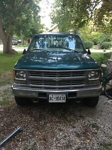 1998 cheverolet 4x4 pickup diesel