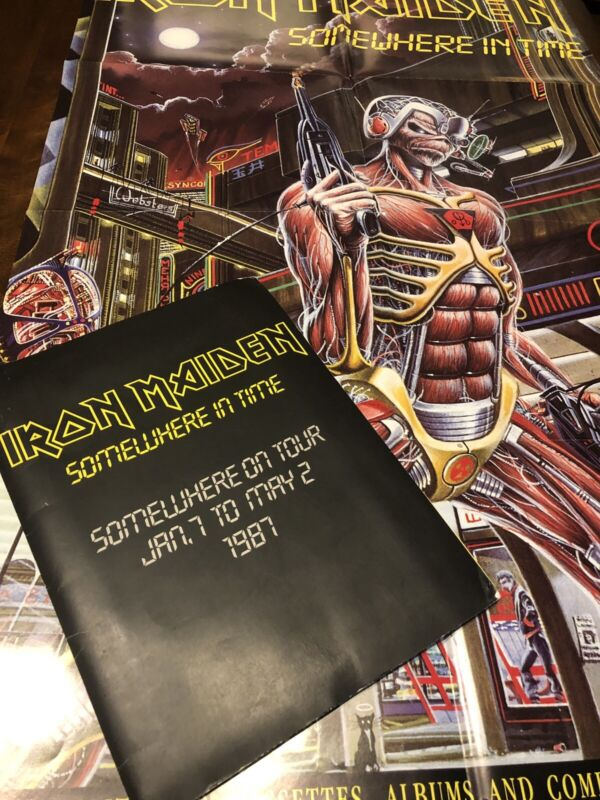 Iron Maiden - Somewhere In Time -Capitol Records PRESS KIT *********************