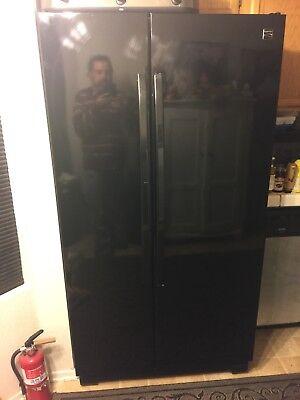 Refrigerator Black Double Doors