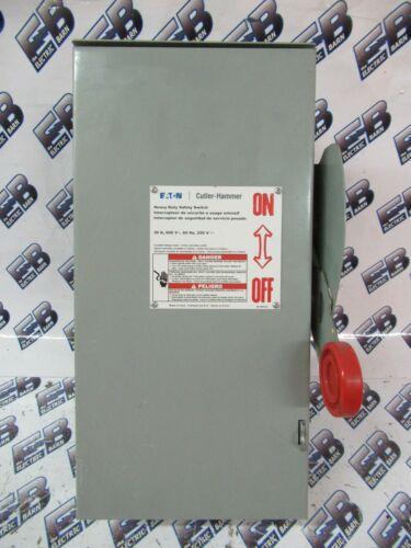 CUTLER HAMMER DH361URK, 30 Amp, 600 Volt, 3PH 3W, NEMA 3R Disconnect