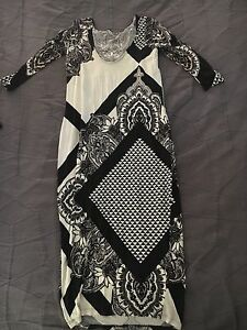 Black and white maternity dress 8 10 12 Redcliffe Belmont Area Preview