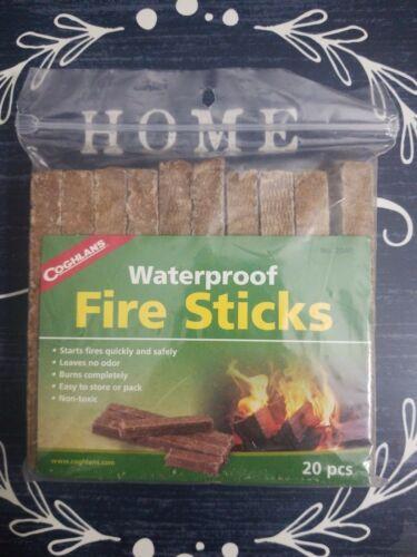 Coghlan's Waterproof Quick Easy Fire Sticks 20pc Fire Log Ch