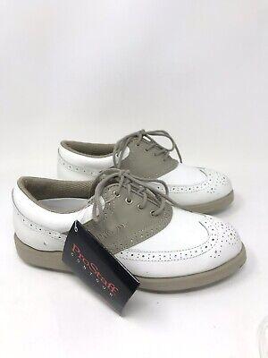 Wilson ProStaff Women's Golf Shoes White Tan Taupe Size 6.5