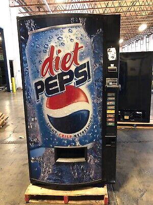 Diet Pepsi Vendo 407-8 Soda Vending Machine Wcoin Bill Accept Made In Usa