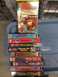 Collection of various vhs cartoons movies and more
