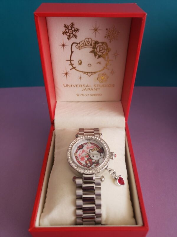 Sanrio Hello Kitty Universal Studios Japan Stainless Steel Analog Wrist Watch