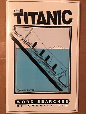 Titanic - Word Search Puzzle Book - Word Search Puzzle Books