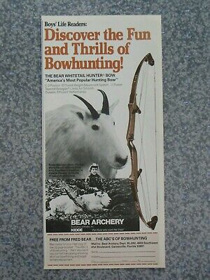 Ted Nugent Martin Archery Poster Hunting Bow Promo Advertisement Gonzo Signed Ad A Great Variety Of Models Music Memorabilia Vintage & Collectibles