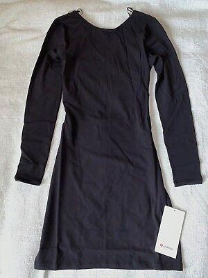 Lululemon Contour Dress  Nulu Size 6 Black