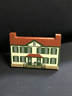 Cats Meow Village BECKY THATCHER HOUSE 1995 Wood Mark Twain Series Retired 1-1