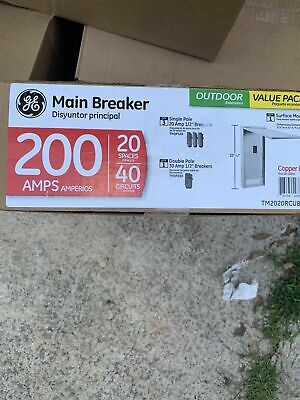 Ge Main Breaker Box Kit 200 Amp 20-space 40-circuit Full-length Neutral Bars