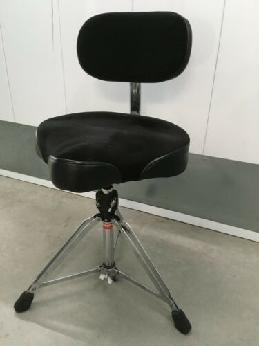 Gibraltar 9608MB Drum Throne with Motorcycle Seat and Backrest. EXC  !