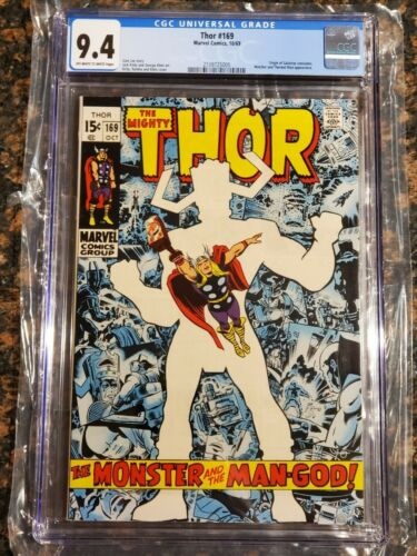 Thor #169 CGC 9.4 OW/W Pages Origin of Galactus