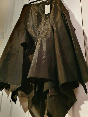 Ivan Grundahl Maxi Skirt Size 42 Designer Vintage Copper Assymetric hem Volume