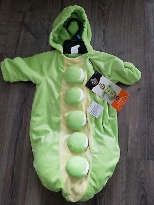 NWT Peas in a Pod Costume • 0-6 Months • Infant Halloween • Peapod • Plush TWINS (Baby Twin Halloween Costumes)