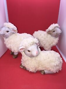 Rustic lamb decoration - approximately 4'' each