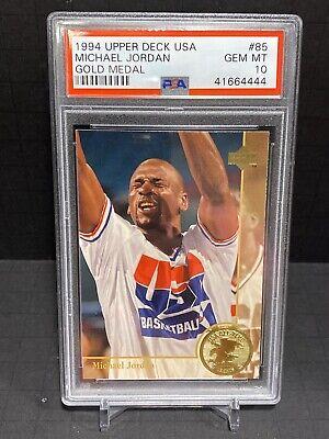 MICHAEL JORDAN PSA 10 1994 Upper Deck USA Gold Medal #85 Chicago Bulls POP 26