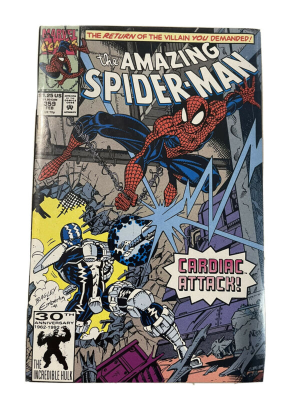 Amazing Spiderman 359 Carnage 1st Appearance - 1st Edition!!!