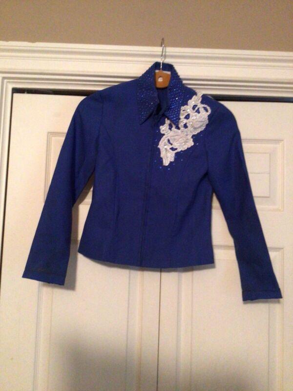 """B"" Happy Collection Horsemanship Showmanship Pleasure Rail Shirt Pants 8 Youth"